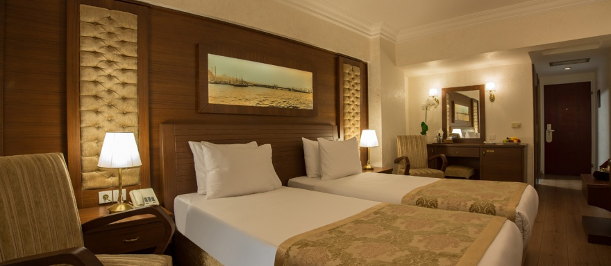 Double Room With Twin Bed Yigitalp Hotel Istanbul